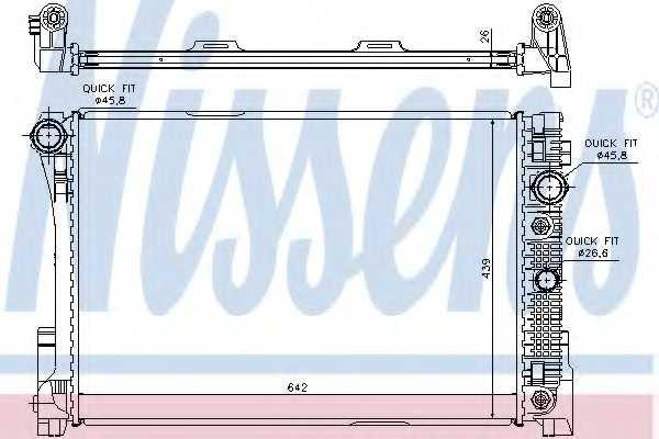 Радиатор охлаждения двигателя NISSENS 67168 - изображение