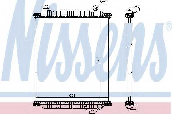 Радиатор охлаждения двигателя NISSENS 672060 - изображение