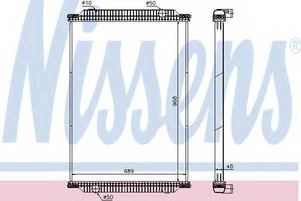 Радиатор охлаждения двигателя NISSENS 672440 - изображение