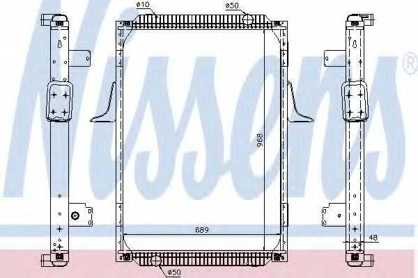 Радиатор охлаждения двигателя NISSENS 67244A - изображение