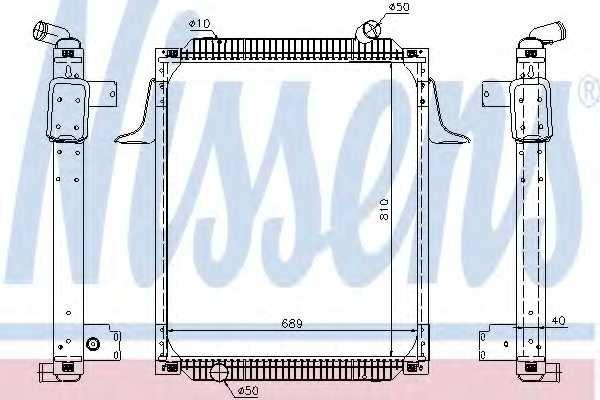 Радиатор охлаждения двигателя NISSENS 67245 - изображение