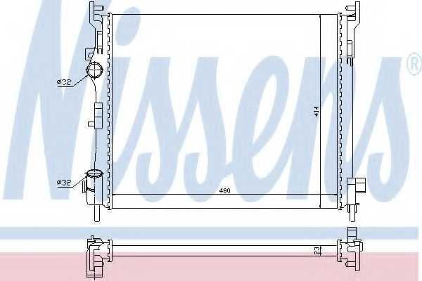 Радиатор охлаждения двигателя NISSENS 67246 - изображение
