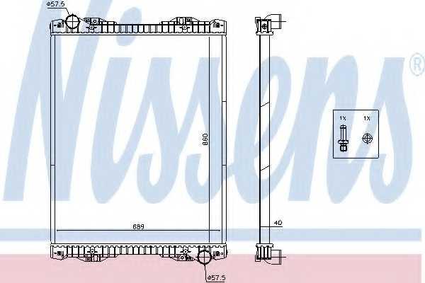 Радиатор охлаждения двигателя NISSENS 672590 - изображение