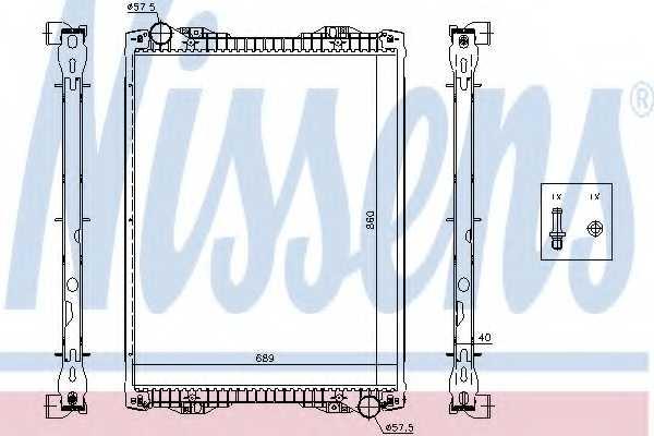 Радиатор охлаждения двигателя NISSENS 67259A - изображение