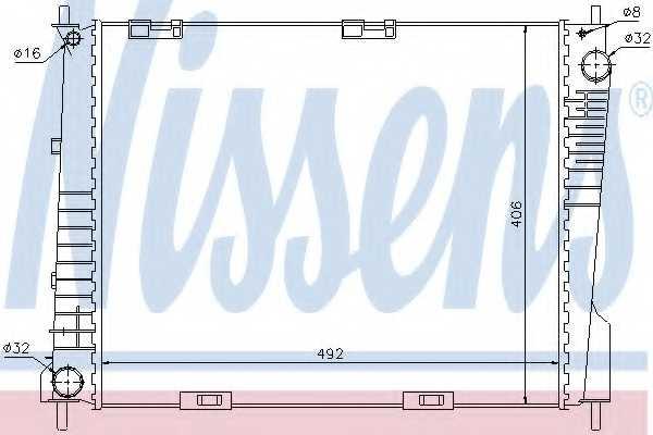 Радиатор охлаждения двигателя NISSENS 67283 - изображение