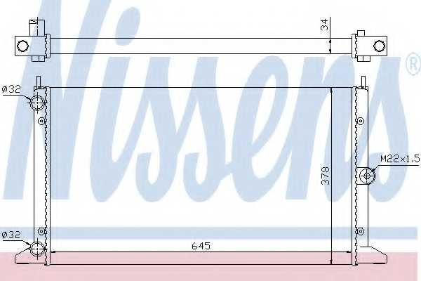 Радиатор охлаждения двигателя NISSENS 67305 - изображение