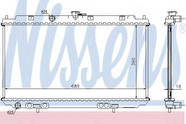 Радиатор охлаждения двигателя NISSENS 67344A - изображение