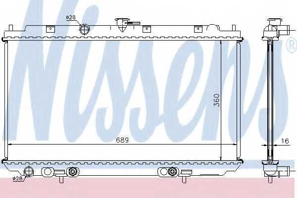 Радиатор охлаждения двигателя NISSENS 67345A - изображение