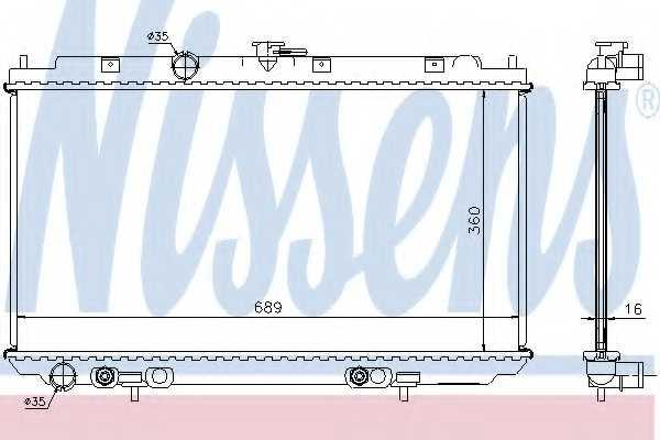 Радиатор охлаждения двигателя NISSENS 67347A - изображение