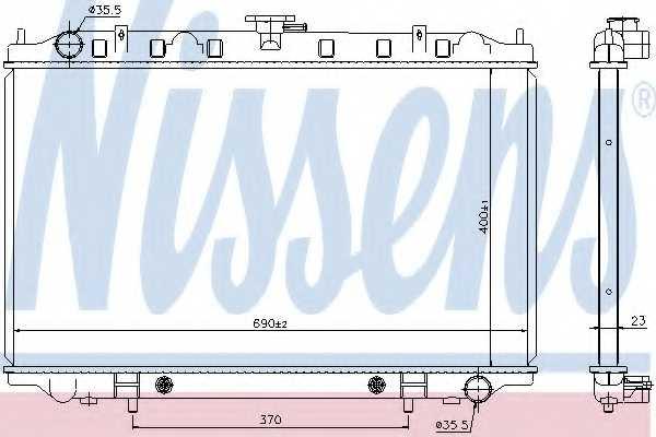 Радиатор охлаждения двигателя NISSENS 67352 - изображение