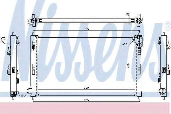 Радиатор охлаждения двигателя NISSENS 67359 - изображение