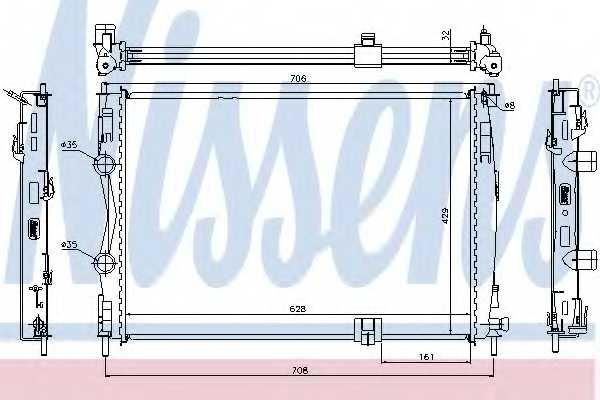 Радиатор охлаждения двигателя NISSENS 67361 - изображение
