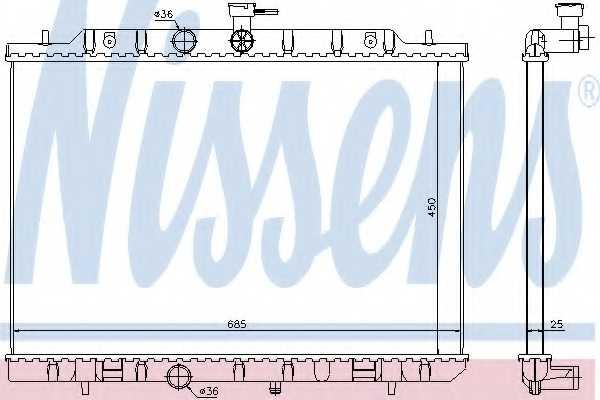 Радиатор охлаждения двигателя NISSENS 67365 - изображение