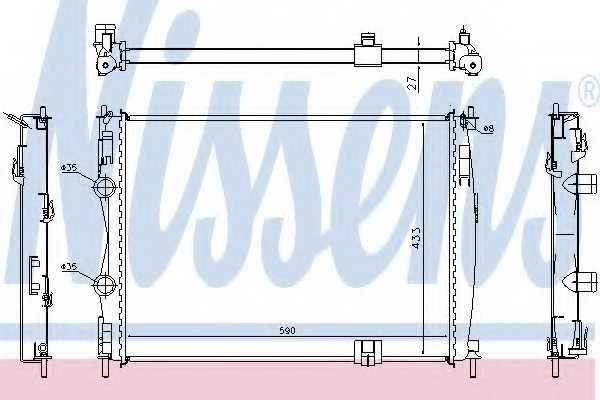 Радиатор охлаждения двигателя NISSENS 67367 - изображение