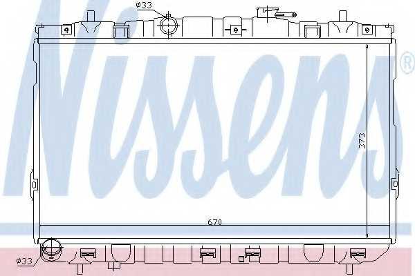Радиатор охлаждения двигателя NISSENS 67467 - изображение
