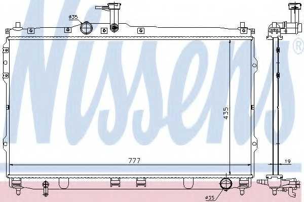 Радиатор охлаждения двигателя NISSENS 67472 - изображение