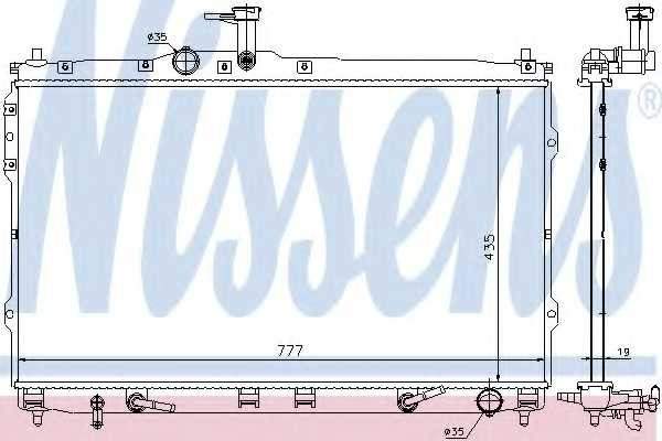 Радиатор охлаждения двигателя NISSENS 67474 - изображение