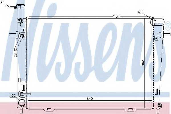 Радиатор охлаждения двигателя NISSENS 67479 - изображение