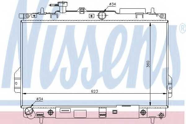 Радиатор охлаждения двигателя NISSENS 67480 - изображение