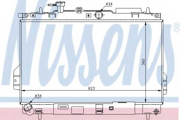 Радиатор охлаждения двигателя NISSENS 67481 - изображение