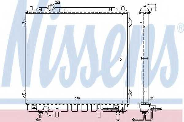 Радиатор охлаждения двигателя NISSENS 67482 - изображение