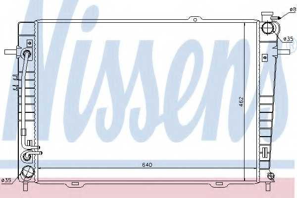 Радиатор охлаждения двигателя NISSENS 67486 - изображение