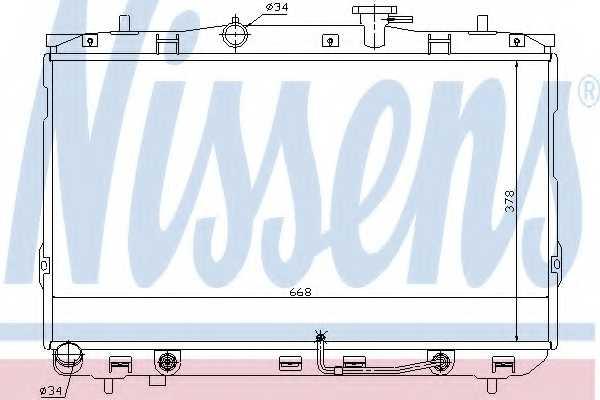 Радиатор охлаждения двигателя NISSENS 67489 - изображение