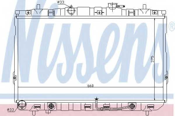 Радиатор охлаждения двигателя NISSENS 67493 - изображение