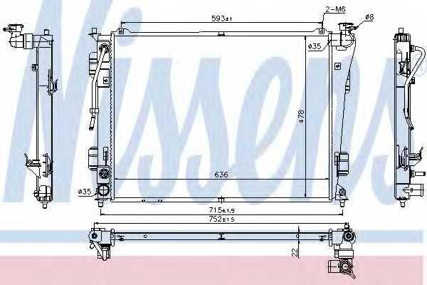 Радиатор охлаждения двигателя NISSENS 675012 - изображение