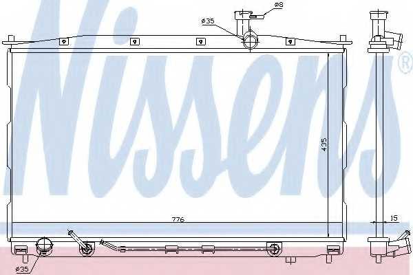 Радиатор охлаждения двигателя NISSENS 67505 - изображение