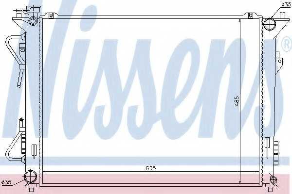 Радиатор охлаждения двигателя NISSENS 67508 - изображение