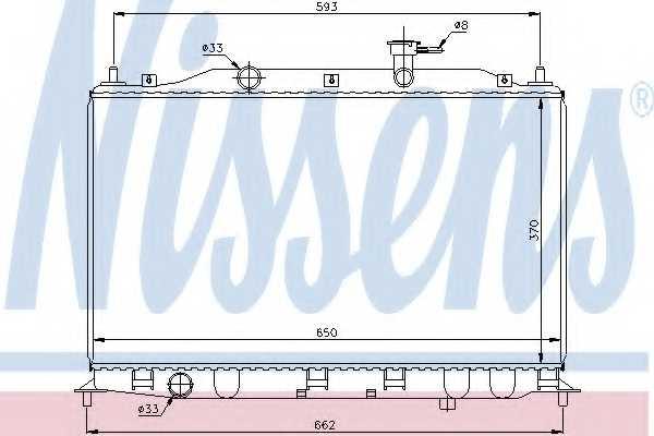 Радиатор охлаждения двигателя NISSENS 67509 - изображение