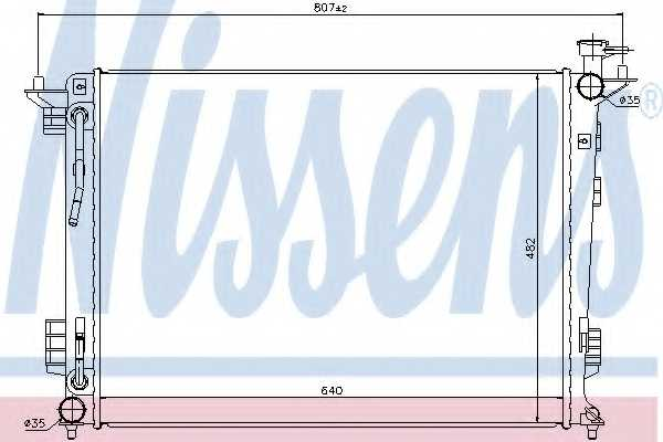 Радиатор охлаждения двигателя NISSENS 67514 - изображение