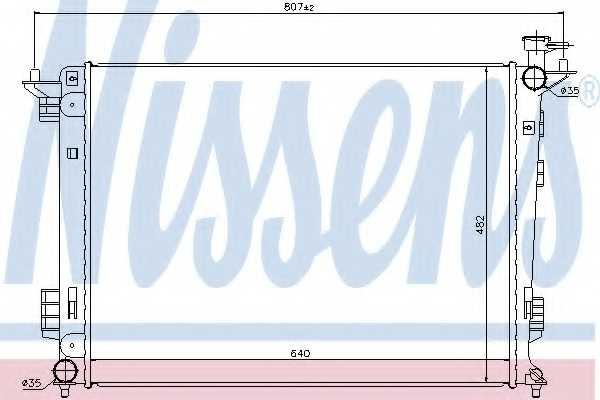Радиатор охлаждения двигателя NISSENS 67515 - изображение