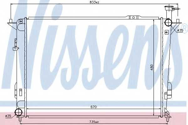 Радиатор охлаждения двигателя NISSENS 67522 - изображение