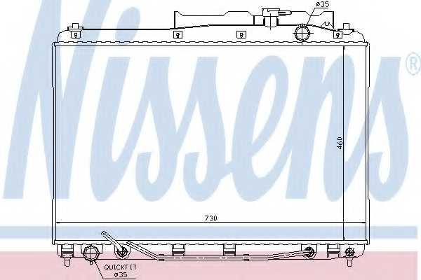 Радиатор охлаждения двигателя NISSENS 67528 - изображение