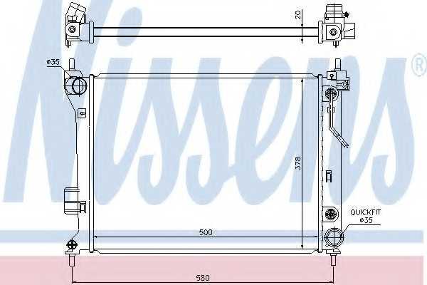 Радиатор охлаждения двигателя NISSENS 67548 - изображение