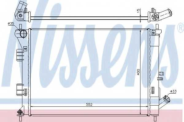 Радиатор охлаждения двигателя NISSENS 67555 - изображение