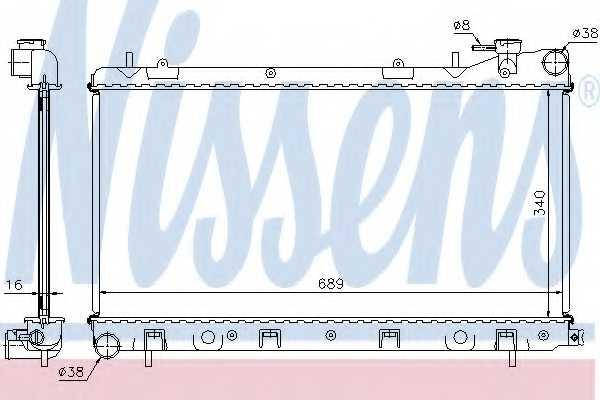 Радиатор охлаждения двигателя NISSENS 67704A - изображение