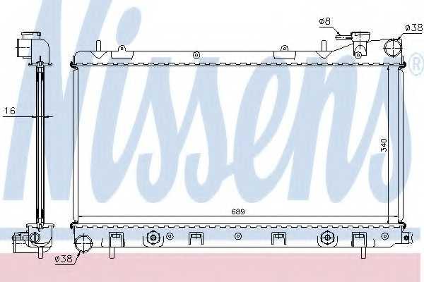 Радиатор охлаждения двигателя NISSENS 67705A - изображение
