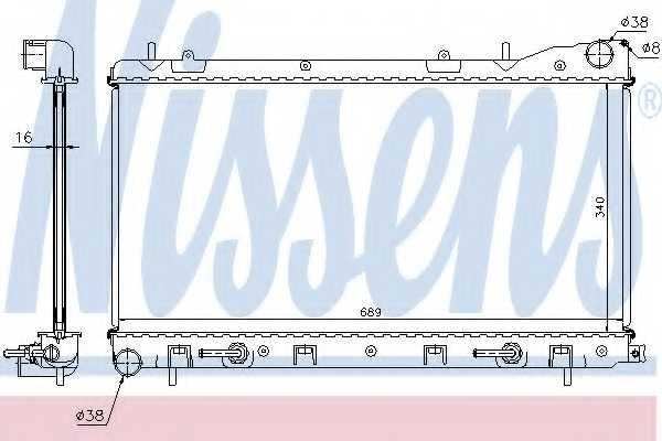 Радиатор охлаждения двигателя NISSENS 67707A - изображение