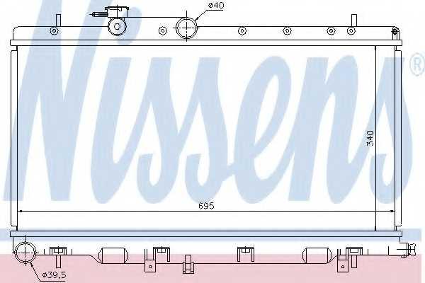 Радиатор охлаждения двигателя NISSENS 67708 - изображение
