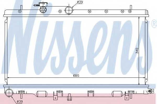 Радиатор охлаждения двигателя NISSENS 67709 - изображение