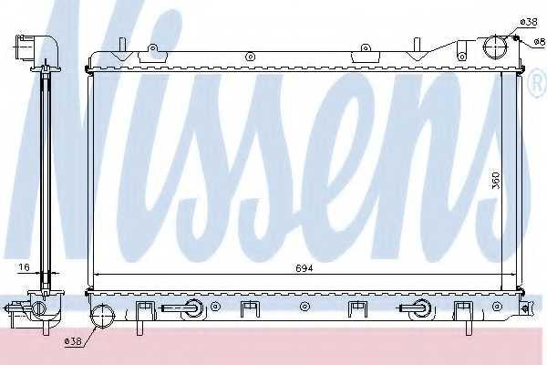 Радиатор охлаждения двигателя NISSENS 67712 - изображение