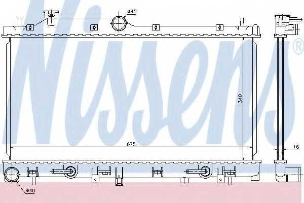 Радиатор охлаждения двигателя NISSENS 67720 - изображение