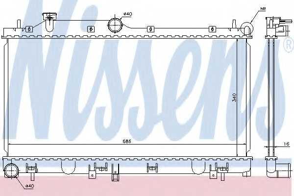 Радиатор охлаждения двигателя NISSENS 67723 - изображение