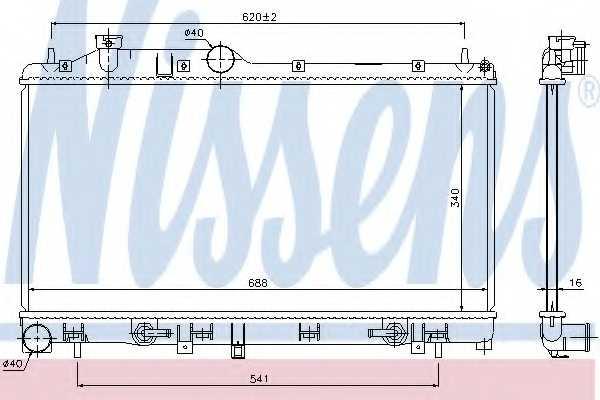 Радиатор охлаждения двигателя NISSENS 67725 - изображение
