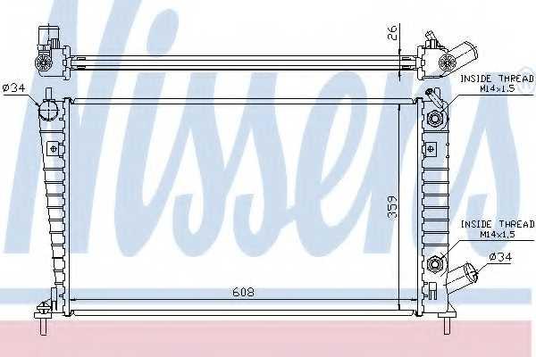 Радиатор охлаждения двигателя NISSENS 68001A - изображение