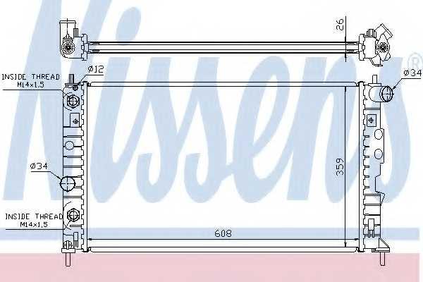 Радиатор охлаждения двигателя NISSENS 68003A - изображение
