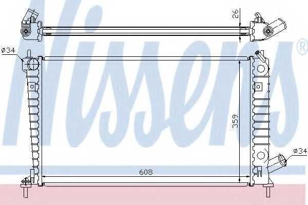 Радиатор охлаждения двигателя NISSENS 68004A - изображение